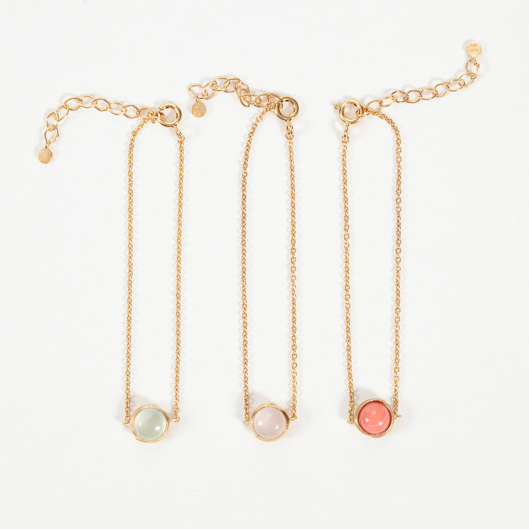 Product shot of Pernille Corydon Aura Rose Gold Plated Bracelet - Collection of colours