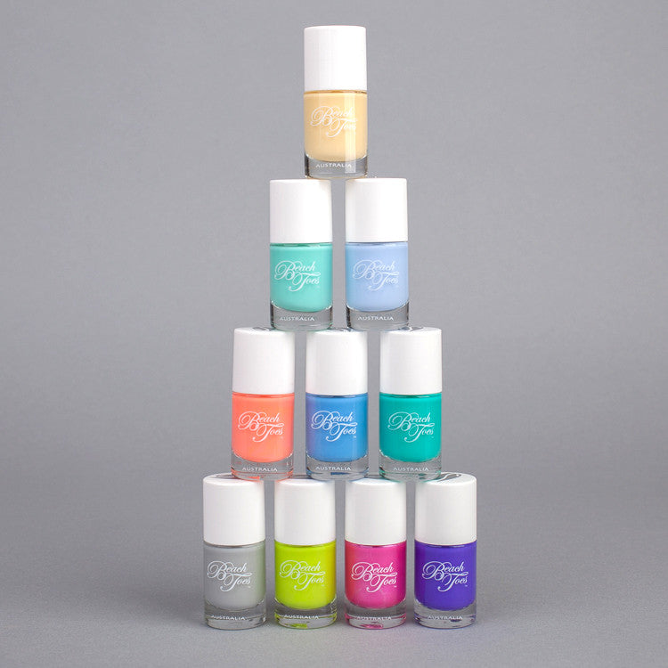 New 2015 shades from Beach Toes, available from Roo's Beach