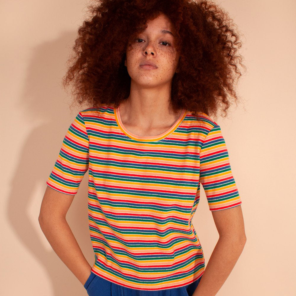 L.F. Markey Multi Stripe Rodney Tee