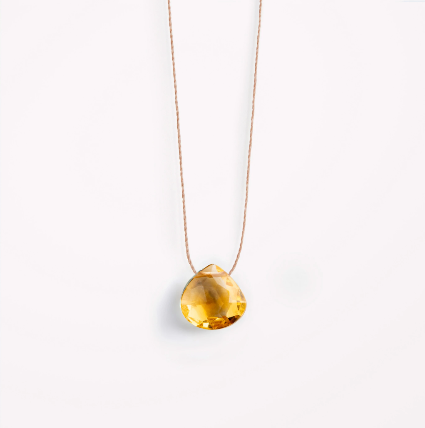 Wanderlust Life Citrine Fine Chord Necklace