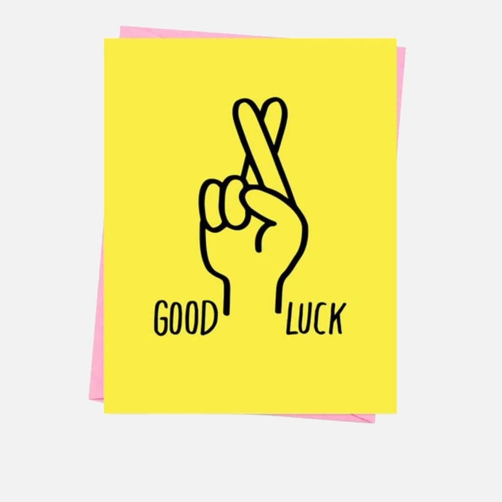 Ashkahn Good Luck Fingers Crossed Greetings Card