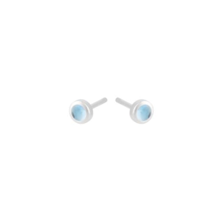 Pernille Corydon Shine Blue Topaz Silver Stud Earrings