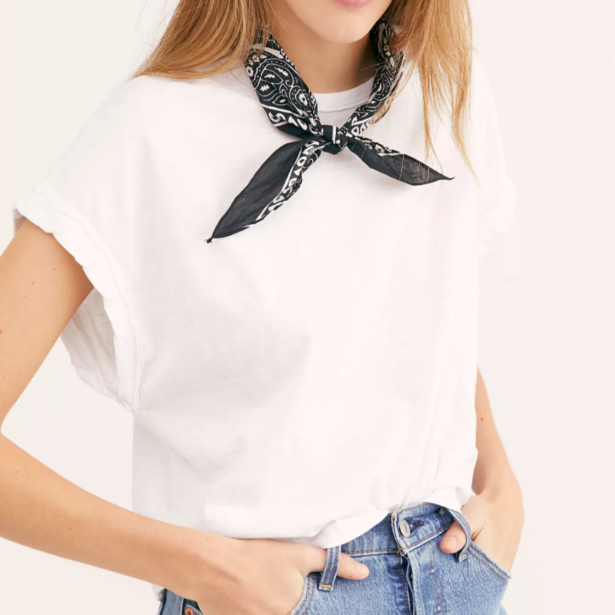 Free People You Rock Optic White Tee