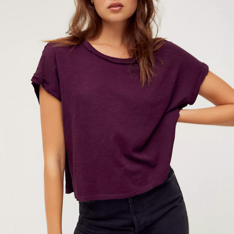 Free People You Rock Shiraz Tee