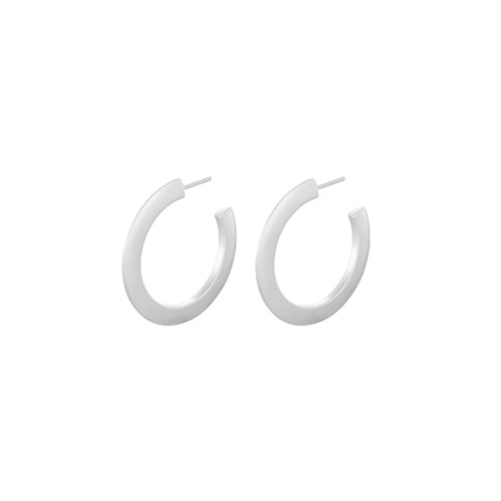 Pernille Corydon Small Silver New York Hoops 30mm