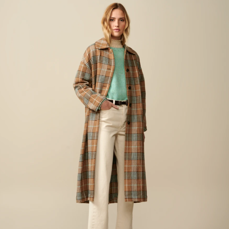 Bellerose Lyock Check Coat