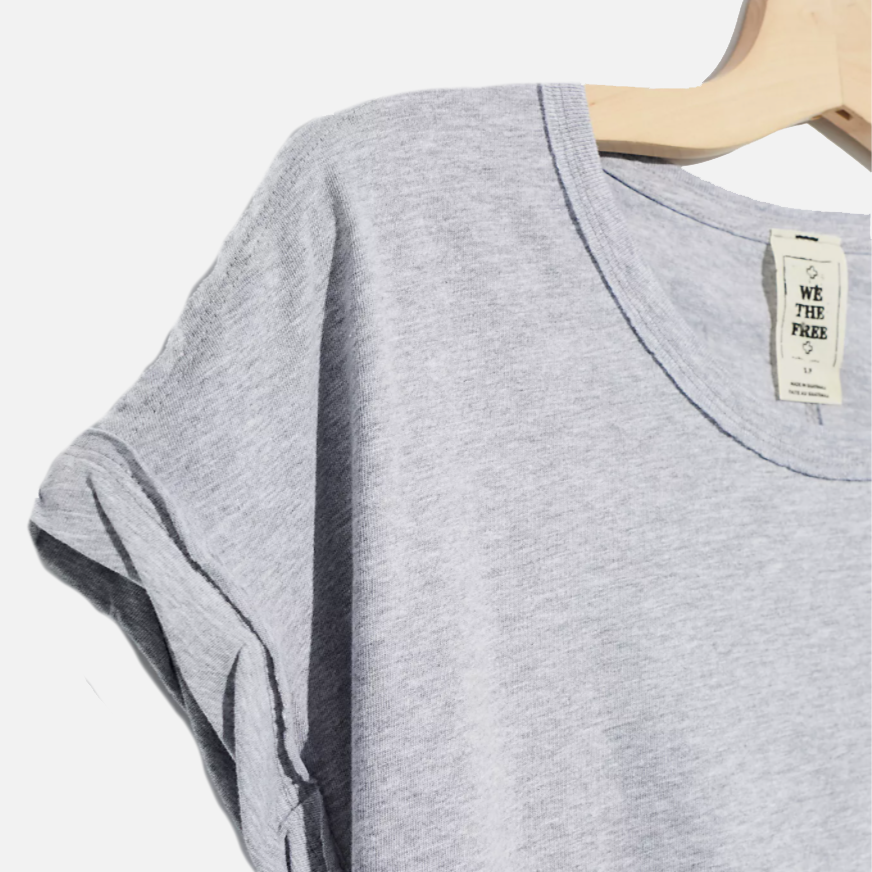 Free People You Rock Heather Grey Tee