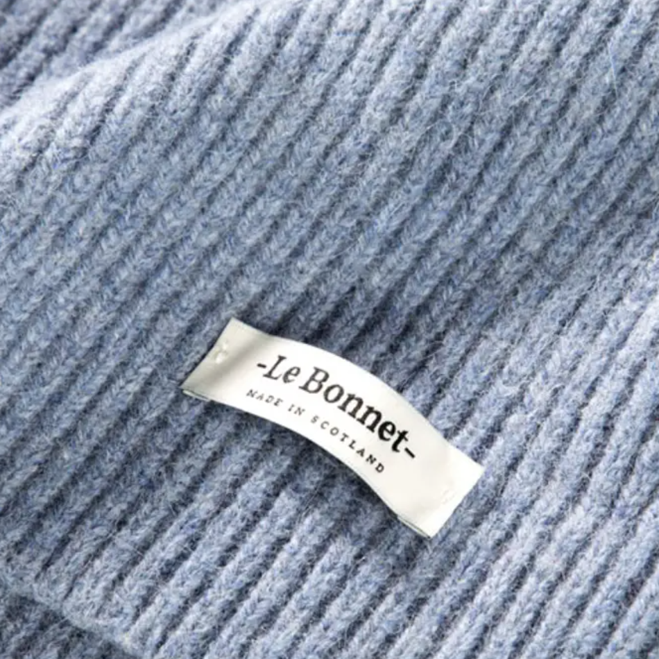 Le Bonnet Washed Denim Beanie Hat