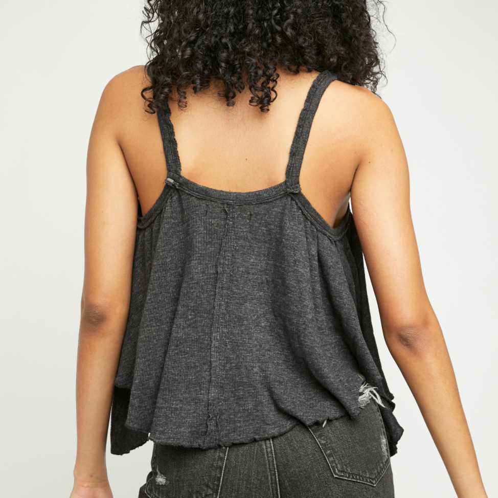 Free People Black Dream Weaver Tank Top