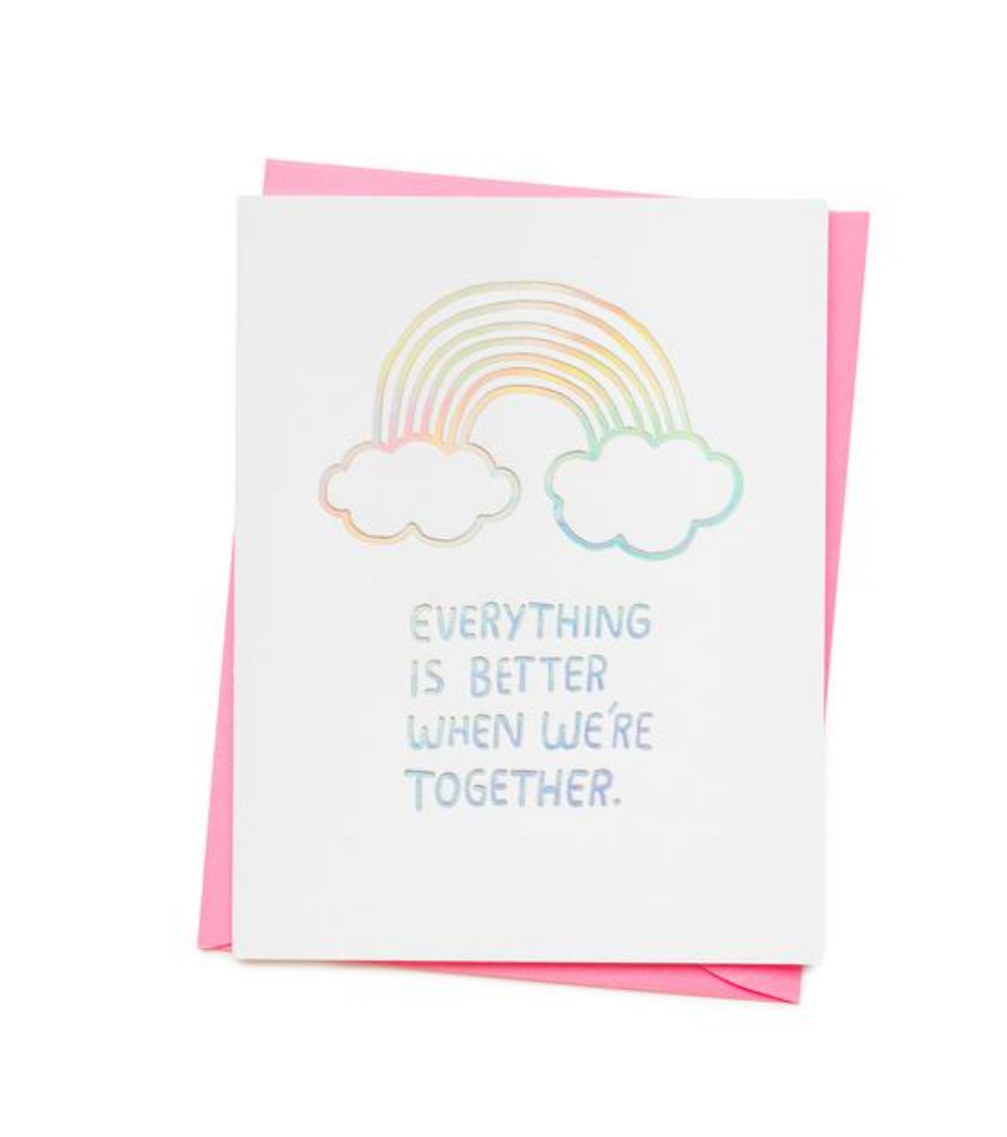ASHKAHN Everything Is Better Rainbow Greetings Card