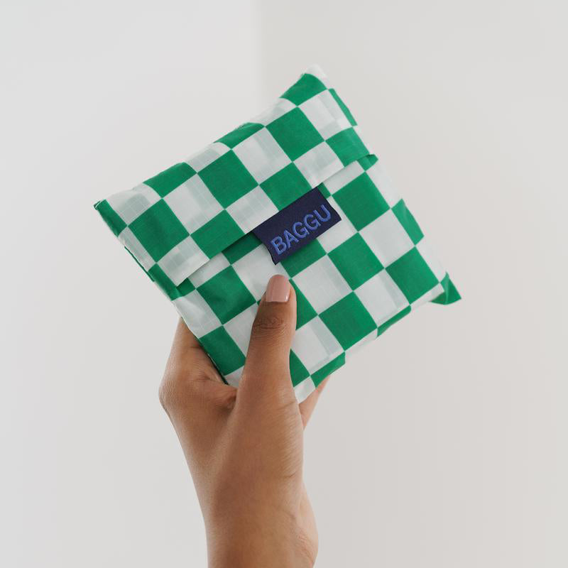 Baggu Green Checkerboard Standard Reusable Bag