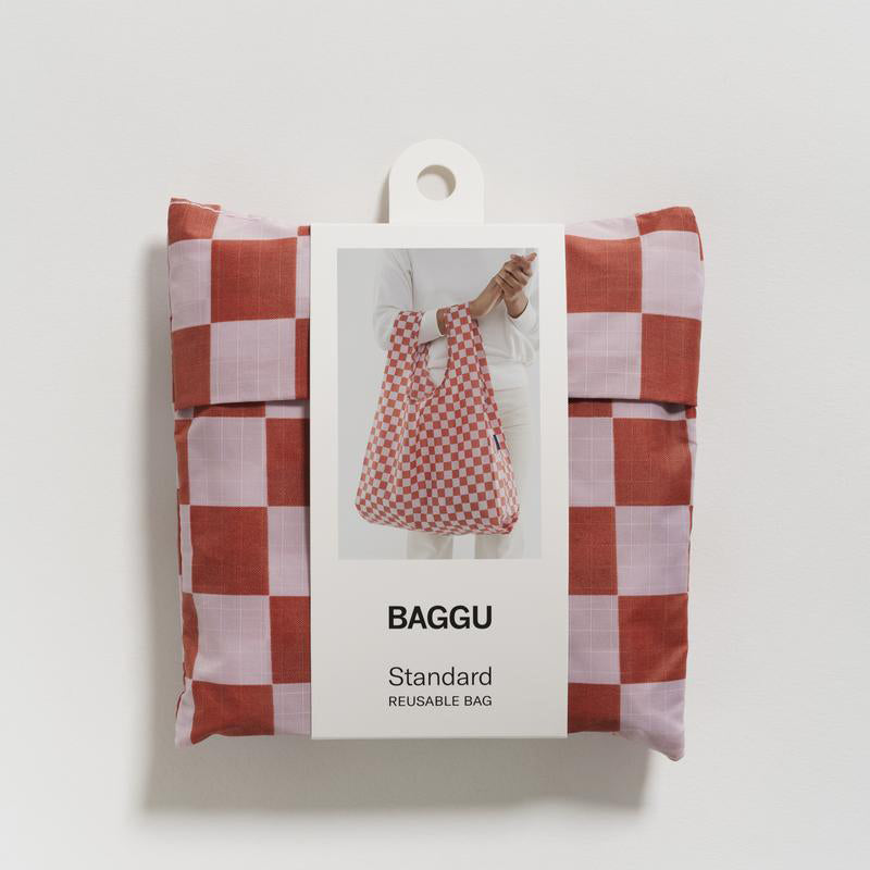 Baggu Rose Checkerboard Standard Reusable Bag