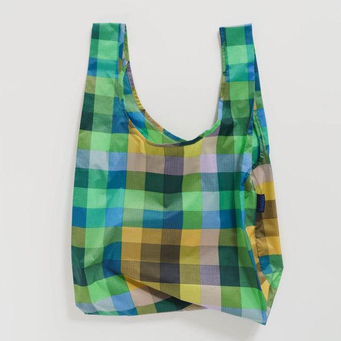 Baggu Madras No.3 Green Standard Reusable Bag