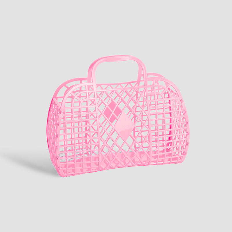Sun Jellies Bubblegum Pink Small Retro Basket