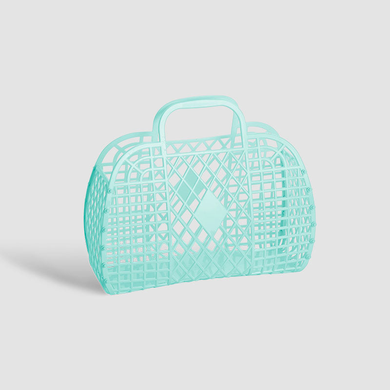 Sun Jellies Mint Small Retro Basket