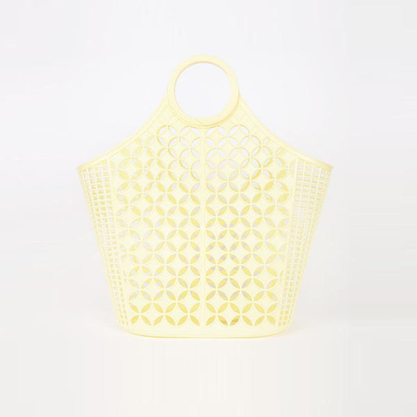 Sun Jellies Jane Yellow Atomic Tote Bag - Available from Roo's Beach UK