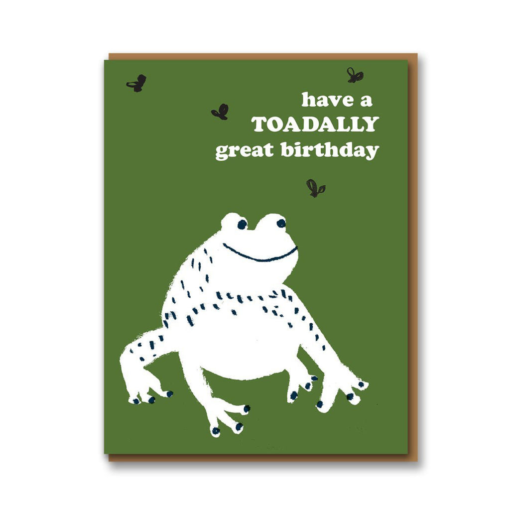 Toadally Great Birthday Card