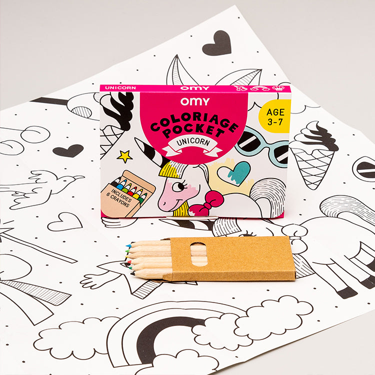 OMY Pocket Unicorn Colouring Set