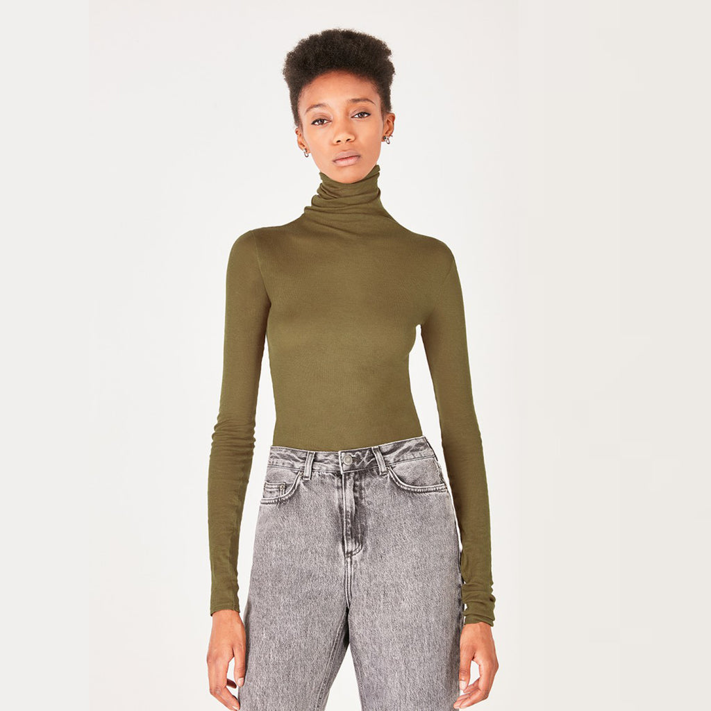American Vintage Asparagus Massachusetts Turtle Neck Top