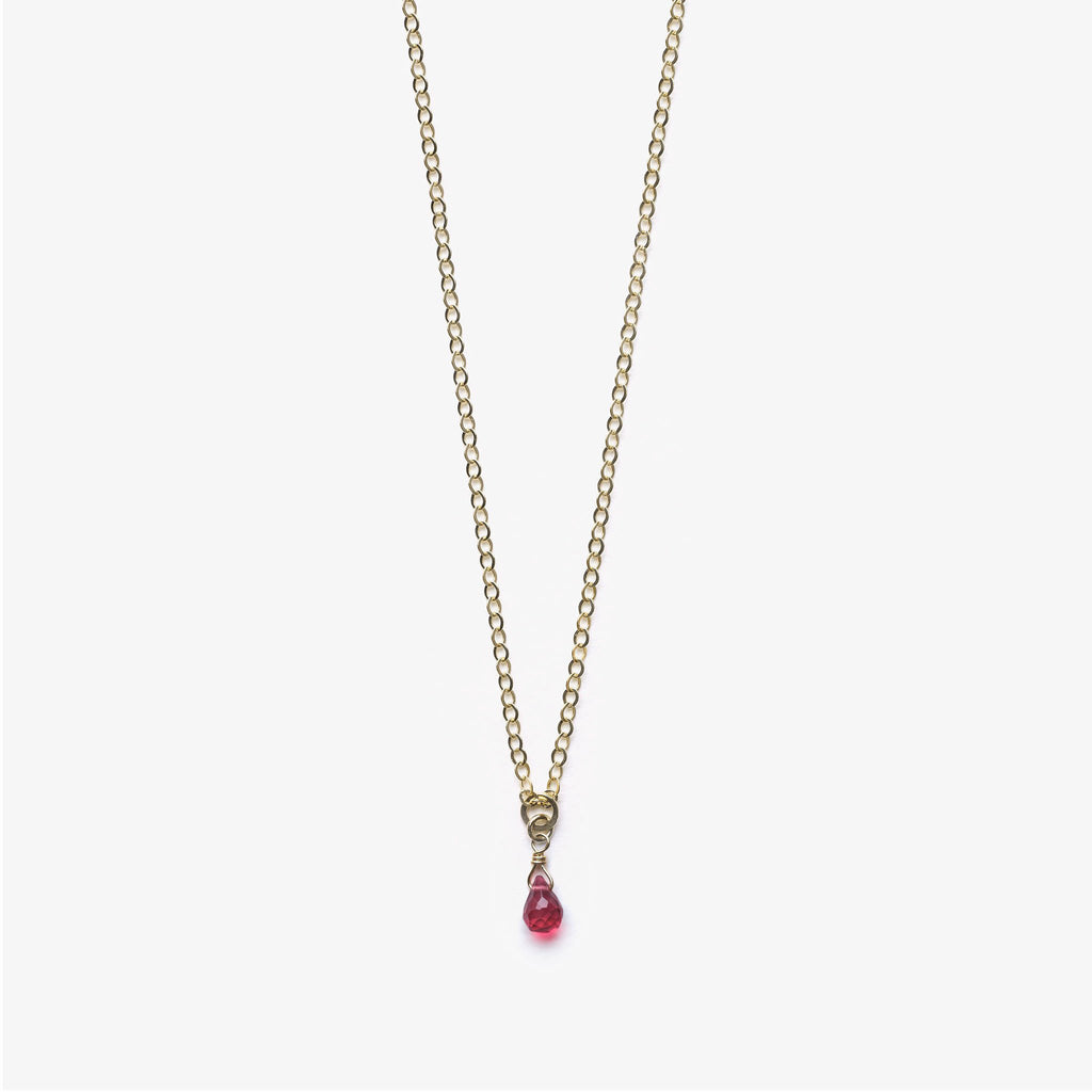 Wanderlust Life Deep Pink Quartz Ana Gold Chain Necklace - product image