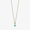 Wanderlust Life Green Onyx Ana Gold Chain Necklace - product shot