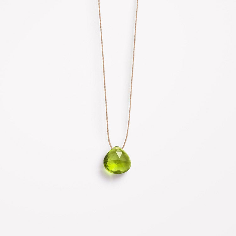 Product shot: Wanderlust Life August Birthstone Peridot Necklace