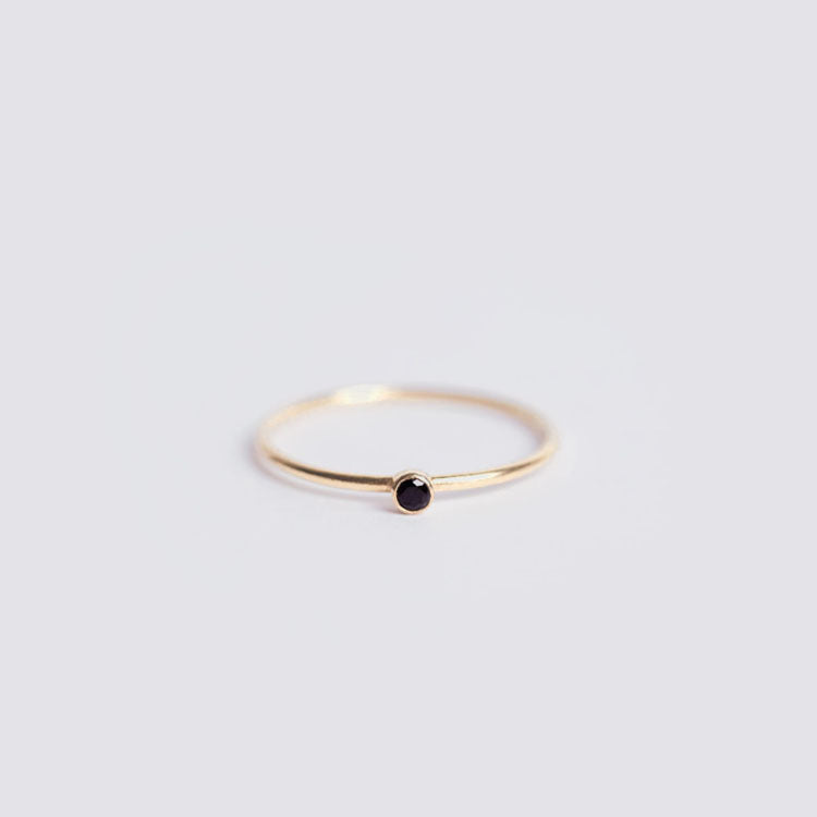 Wanderlust Life Black Spinel Unity Ring