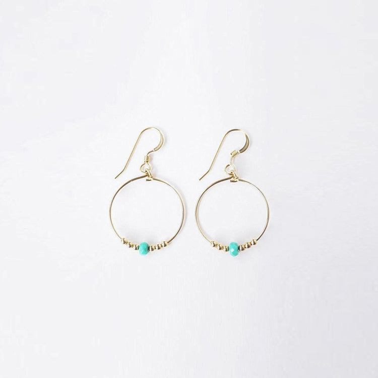 Wanderlust Life Cairo Turquoise Mini Hoop Earrings
