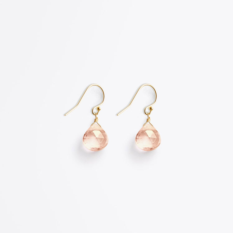 Wanderlust Life Champagne Quartz Isla Drop Earrings