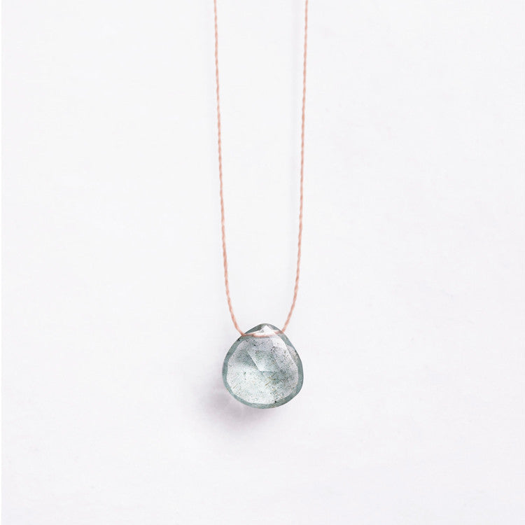 Wanderlust Life Aquamarine Necklace – available online and in store