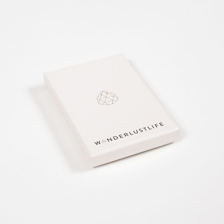Product shot: Wanderlust Life Necklace presentation box