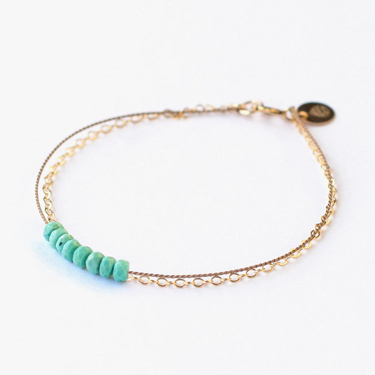 Wanderlust Life Gold & Silk Turquoise Bracelet – a super fine piece of jewellery