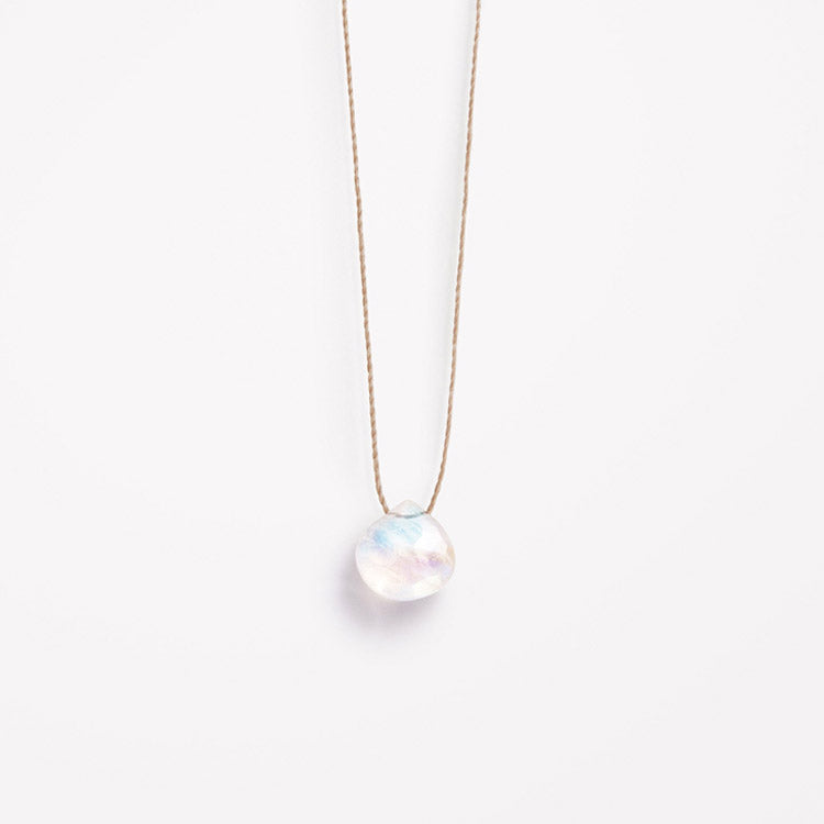 Product shot: Wanderlust Life June Birthstone Moonstone Necklace