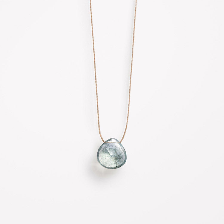 Product shot: Wanderlust Life March Birthstone Aquamarine Necklace