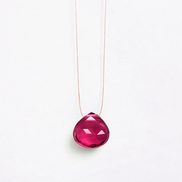 Wanderlust Life Mexican Pink Quartz Necklace – A multi faceted stone in a deep, pink, raspberry shade