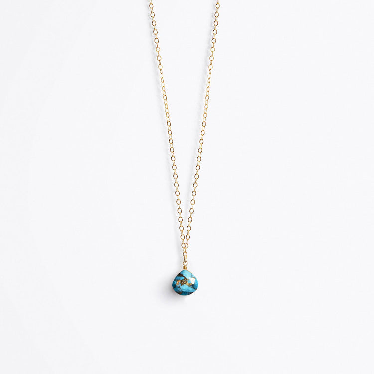 b96eb03638cf0 Wanderlust Life Mohave Turquoise Fine Gold Chain Necklace