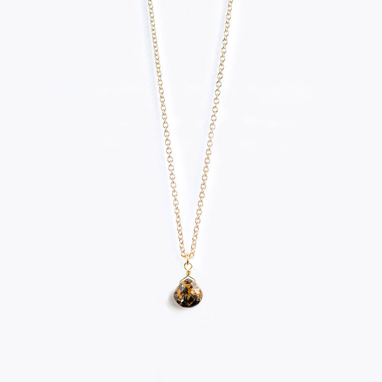 Wanderlust Life Paua Fine Gold Chain Necklace