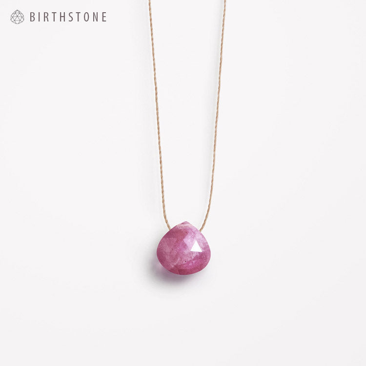 Product shot: Wanderlust Life September Birthstone Sapphire Necklace