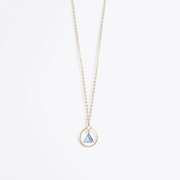 Product shot: Wanderlust Life Stella Prism California Blue Quartz Gold Necklace