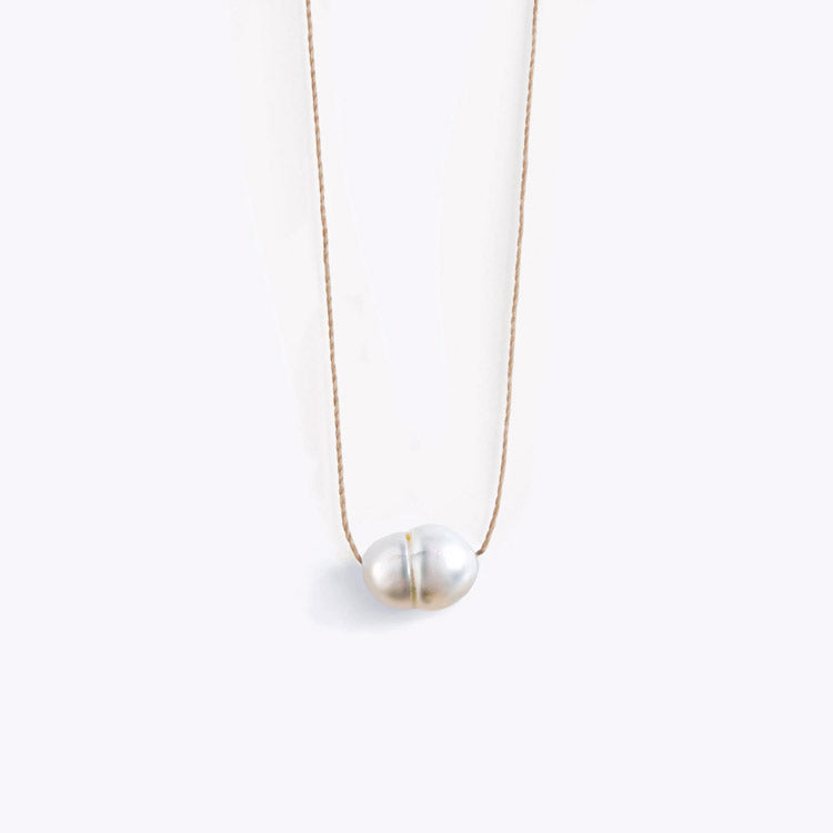 Wanderlust Life White Fresh Water Pearl Necklace