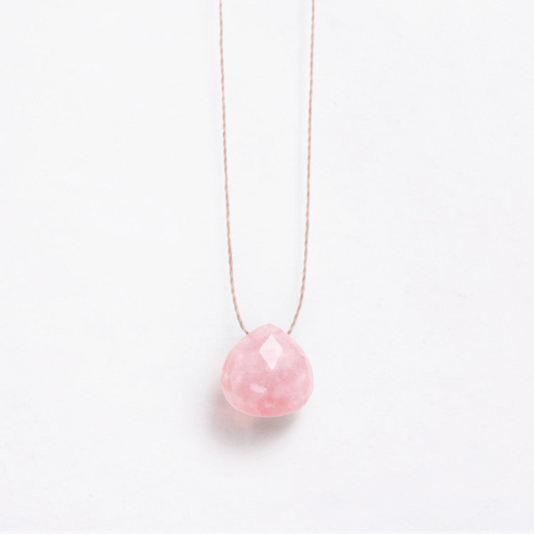 Wanderlust Life Pink Opal Necklace