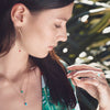 Wanderlust Life Turquoise Ana Gold Chain Necklace - on model