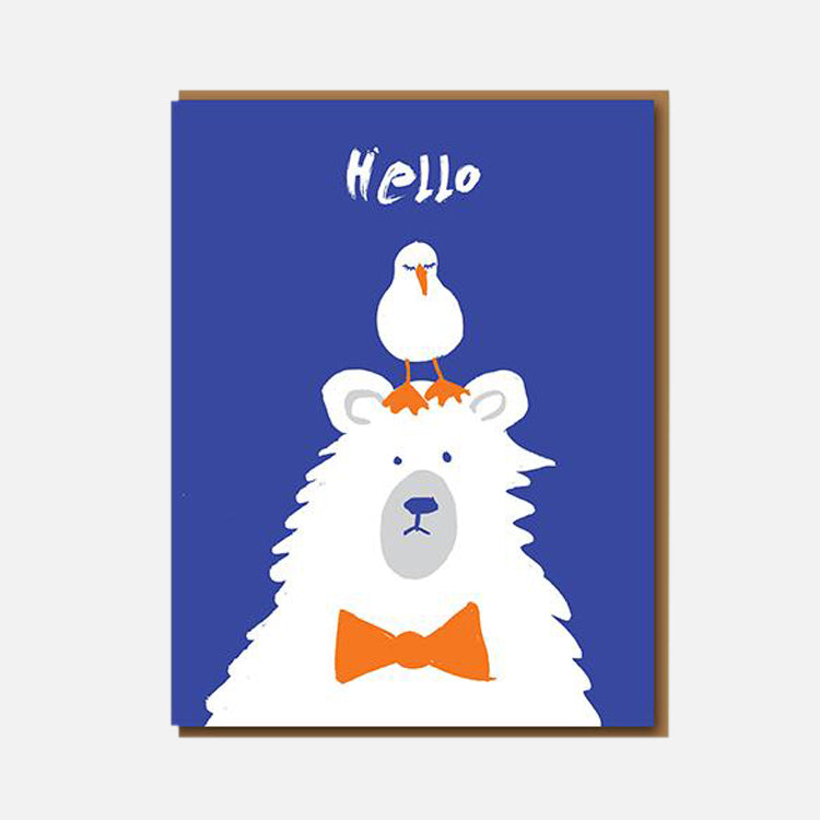 1973 Hello Bear Greetings Card