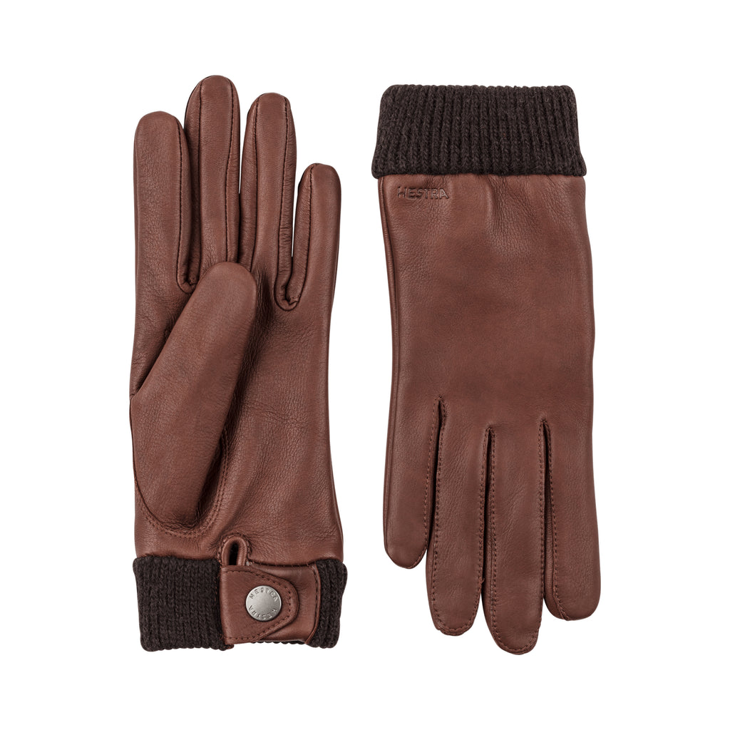 Hestra Women's Brown Leather Idun Gloves