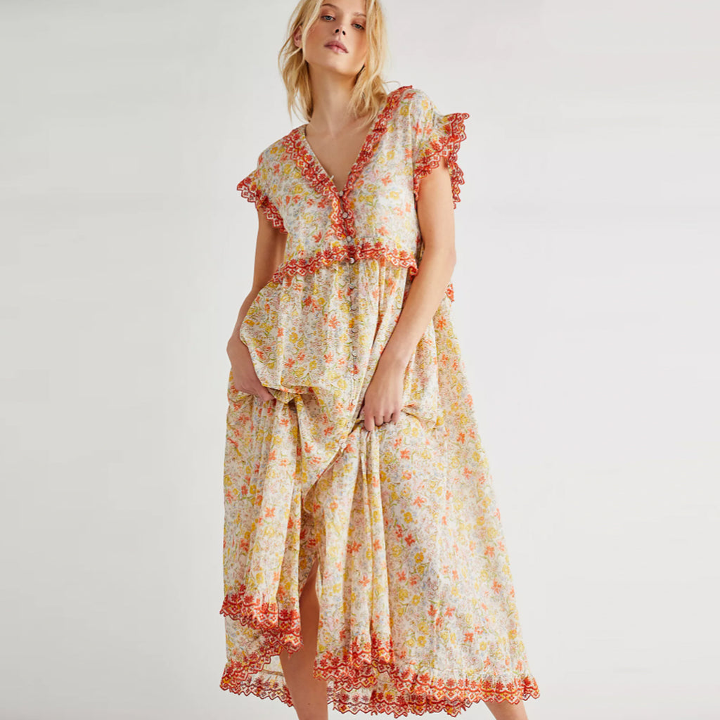 Free People Milania Confetti Combo Midi Dress
