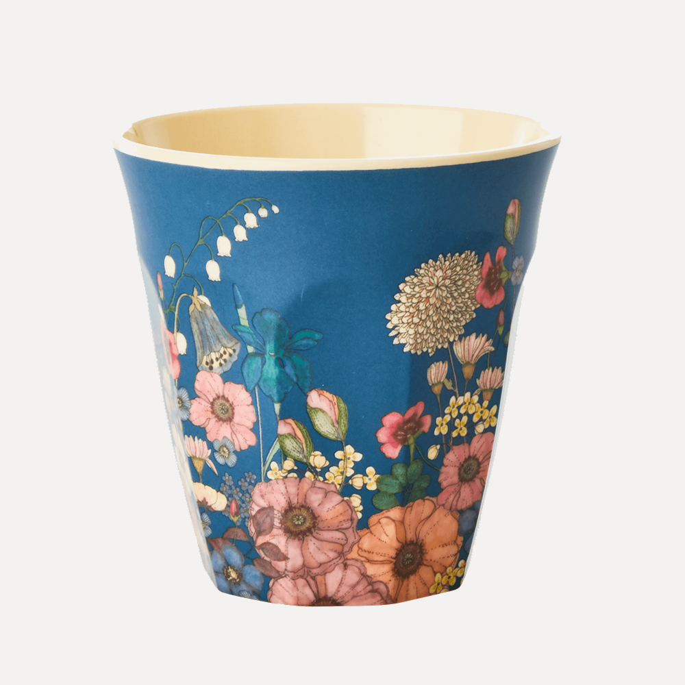 RICE Medium Flower Collage Print Melamine Cup