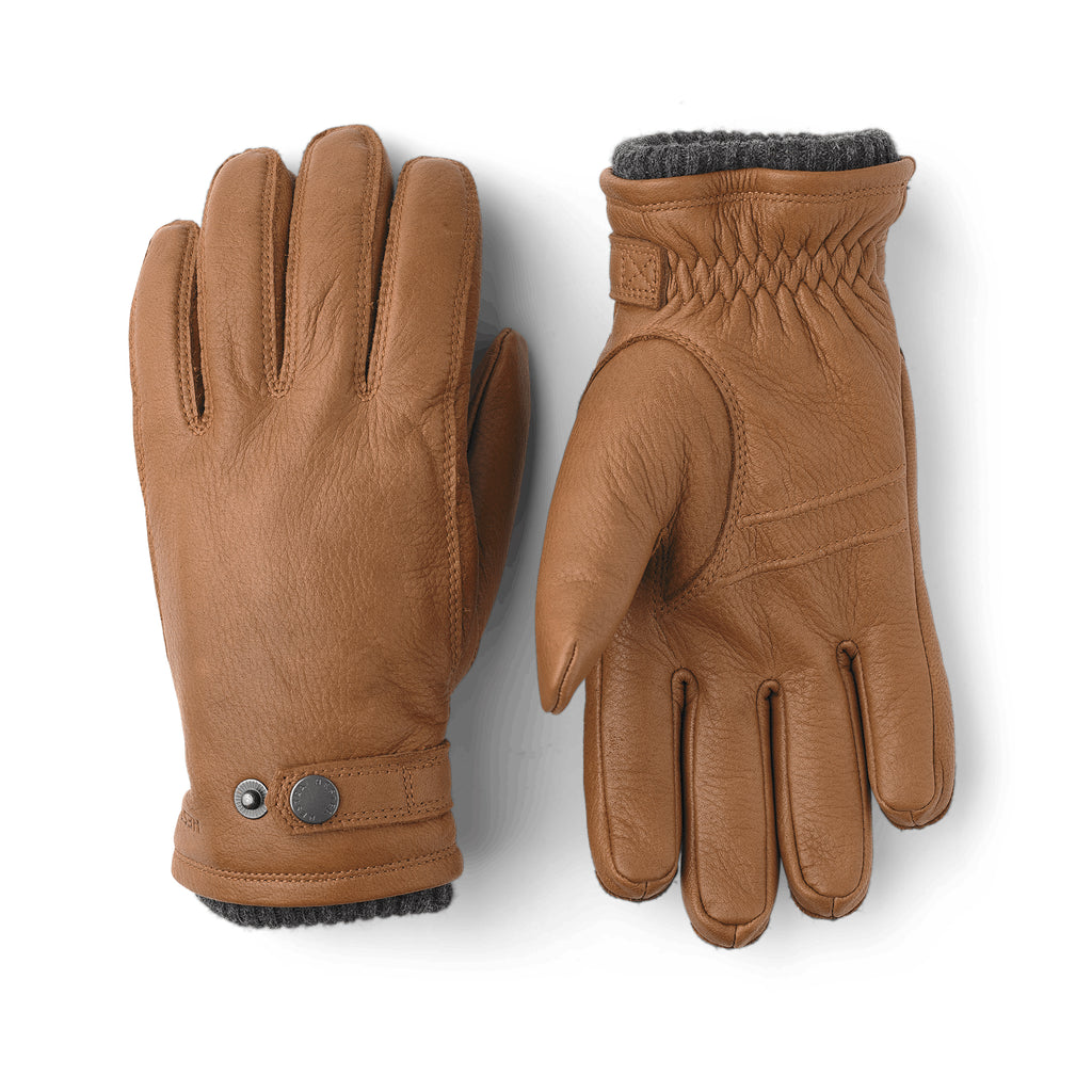 Hestra Mens Leather Utsjö Tan Gloves