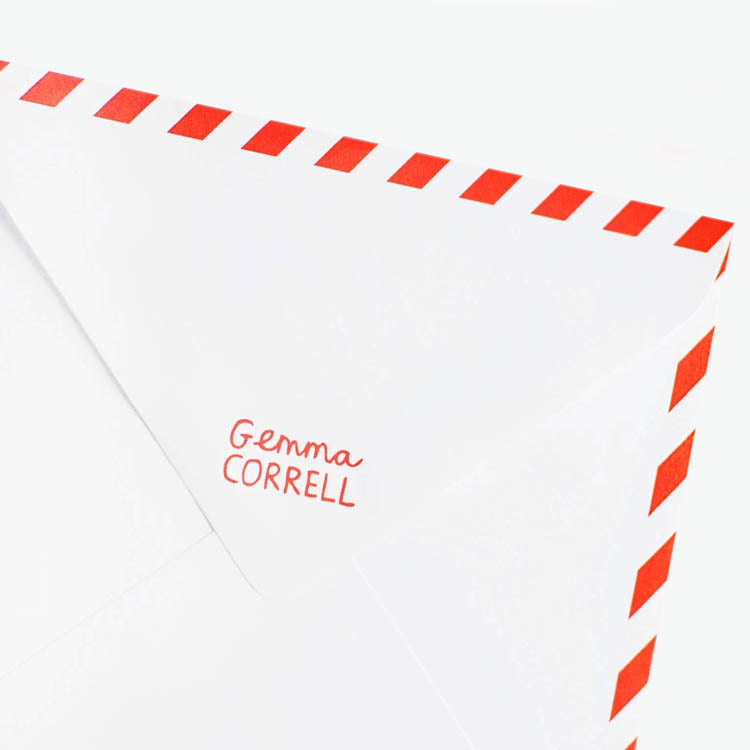 Envelope of a Gemma Correll Greetings Card