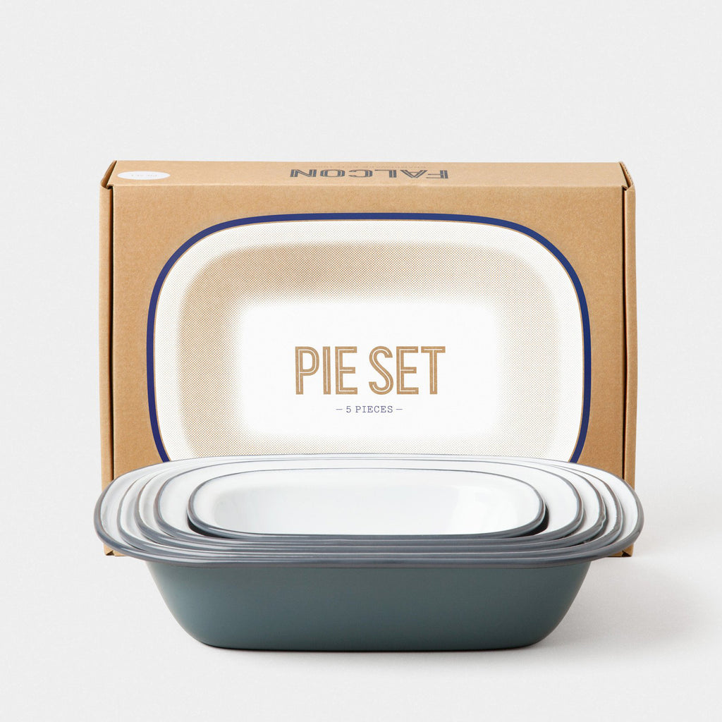 Falcon Enamelware Pigeon Grey Pie Set