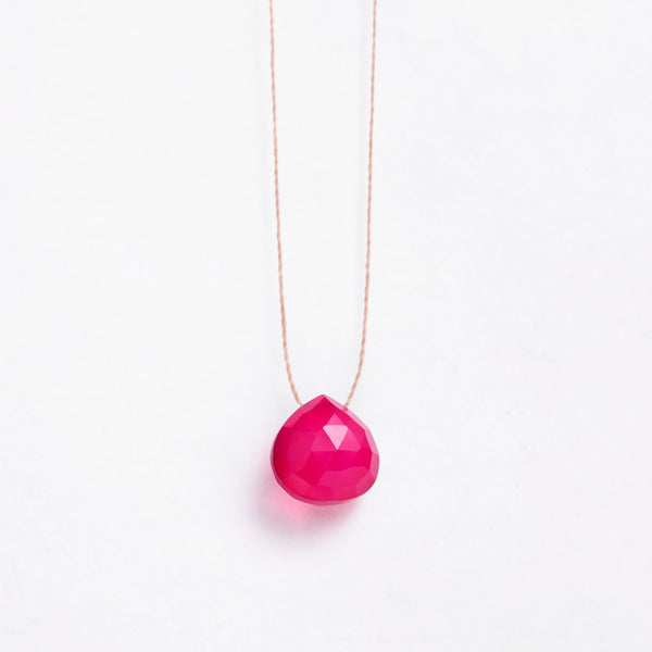 Wanderlust Life Necklace Hot Pink Chalcedony